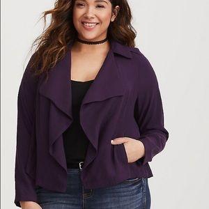 Purple Drape Twill Jacket indigo purple
